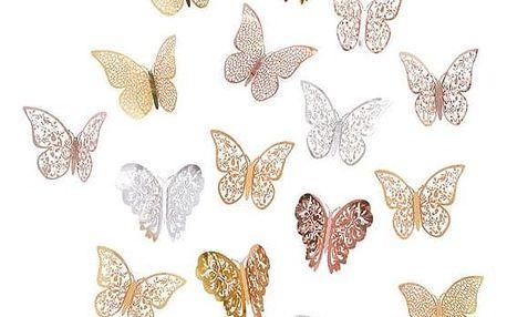 Sada 3D motýlků Pessio