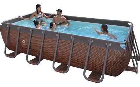Bazén s pevnou stěnou Passaat Rattan 400 x 200 x 99 cm s kartušovou filtrací