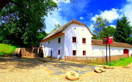 Všední dny v historickém mlýně na jižní Moravě s polopenzí