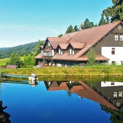 S rodinou do Krkonoš: chata s polopenzí a bazénem