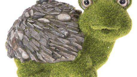 Zahradní dekorace Mechová želva, 21 x 16 x 13,5 cm