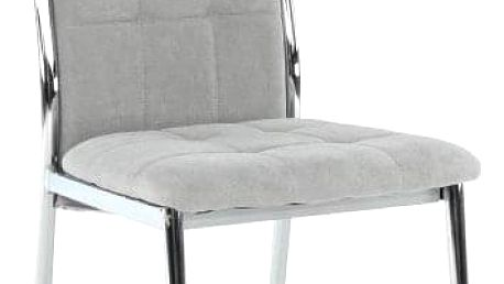 Židle, šedá látka / kov, ADORA NEW