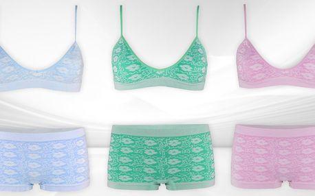 Sportovní set dámského spodního prádla: 6 barev