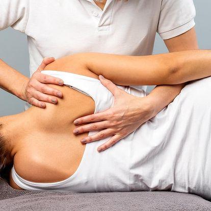 Rehabilitační masáž včetně nahřátí infračervenou lampou