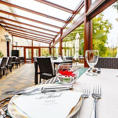 4chodové degustační menu s víny