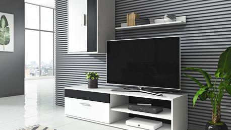 Obývací stěna Togo 2 bílá/černá 6636