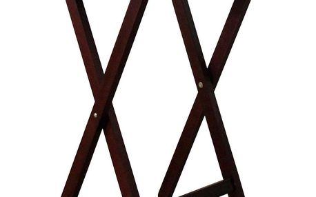 Skládací stolek dřevěný, černohnědá