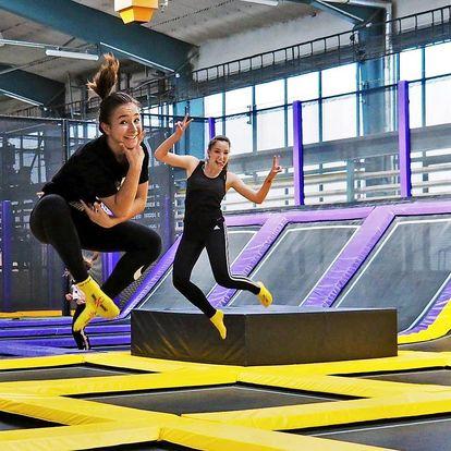 Zábavný JumpPark Brno: 1 nebo 2 hodiny plné skákání