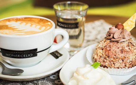 Káva či čaj a dezert v kočičí kavárně v srdci města