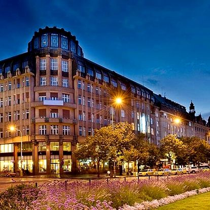 4* hotel na Václavském náměstí v Praze se snídaní