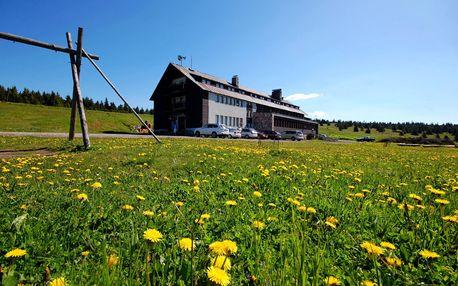 Last minute červen na Dvorské boudě jen 7 km od Sněžky a dítě do 8 let zdarma.