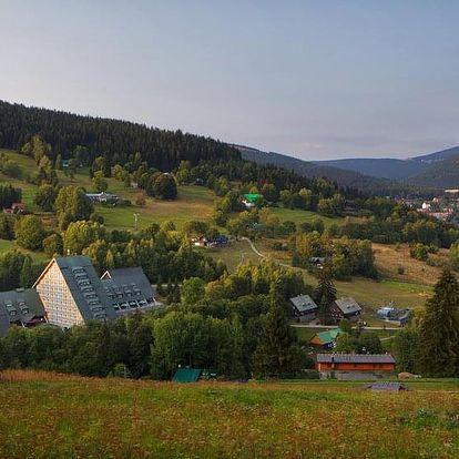 Špindlerův Mlýn, hotel Clarion**** s výhledem na krkonošské lesy