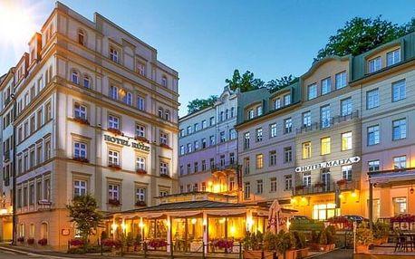 Karlovy Vary: Hotel Růže **** s až 5 wellness a léčebnými procedurami, kávou a zákuskem i polopenzí