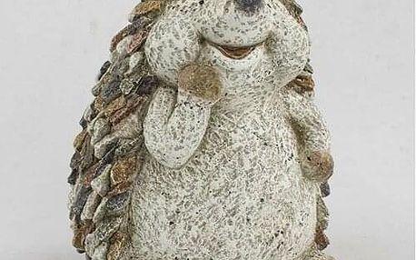 Zahradní dekorace Ježek s kamínky, 24,5 x 29 x 22,5 cm