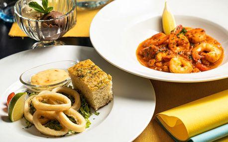 Degustační menu mořských plodů pro 2 osoby