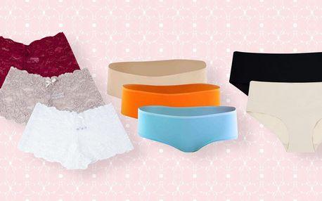 Dámské kalhotky: bezešvé, bavlněné i krajkové