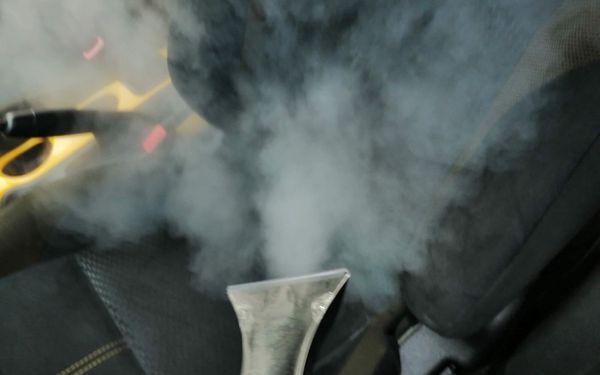 Tepování aut suchou parou + dezinfekce ozonem3