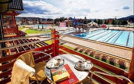 Výborný relax v hotelu Bešeňová s neomezeným vstupem do vodního parku