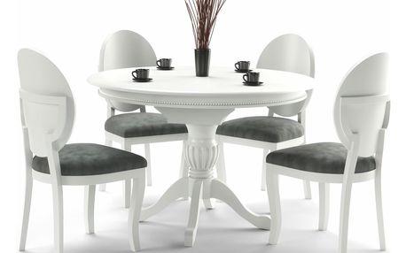 Rozkládací jídelní stůl William, bílá