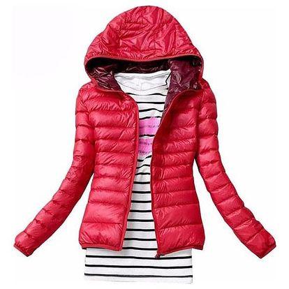 Dámská podzimní prošívaná bunda s kapucí - dodání do 2 dnů