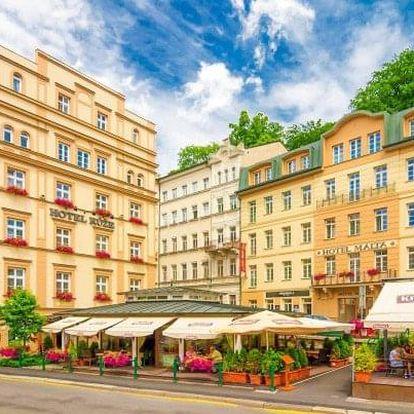 Karlovy Vary: Hotel Malta **** s až 5 wellness a léčebnými procedurami, kávou a zákuskem i polopenzí
