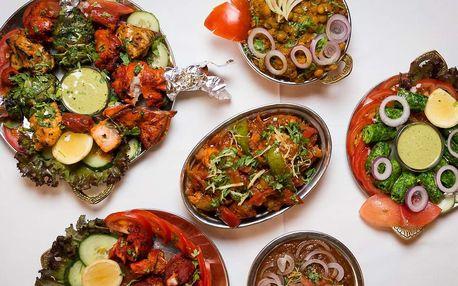 40% sleva na veškerá jídla v restauraci Indian Jewel v centru Prahy