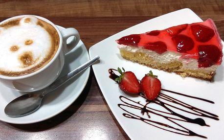 Káva a bezlepkový zákusek podle výběru