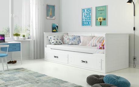 Dětská postel HERMES 2 80x200 cm, bílá