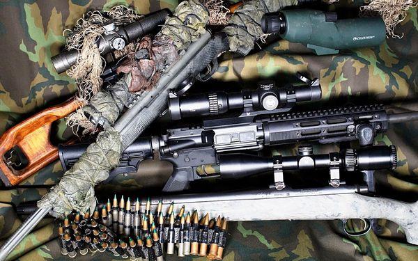 Střelecký balíček Sniper – neviditelný střelec (8 zbraní, 44 nábojů)4