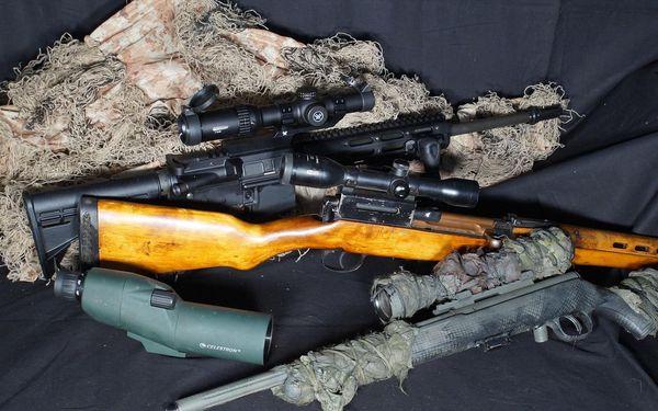 Střelecký balíček Sniper – neviditelný střelec (8 zbraní, 44 nábojů)5