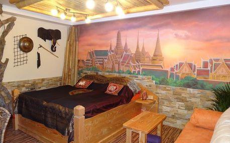 Wellness ubytování v Deluxe apartmánu Thajsko pro 2 osoby v Úžicích