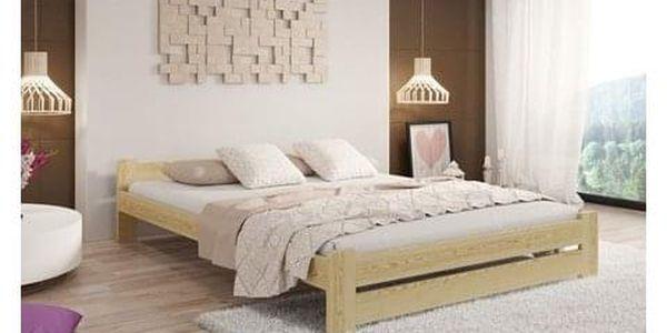 Vyvýšená masivní postel Euro 120x200 cm včetně roštu Olše