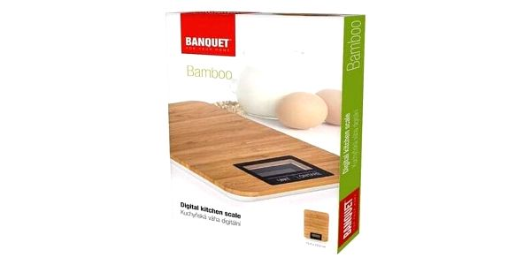 Banquet Digitální kuchyňská váha Bamboo 5 kg2