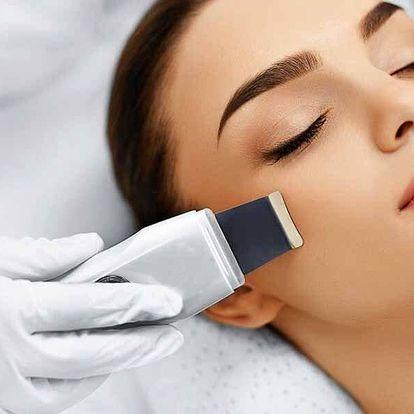 Ošetření pleti ultrazvukovou špachtlí i s masáží obličeje