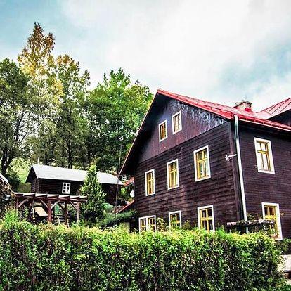 Stylový penzion s polopenzí v Krkonoších