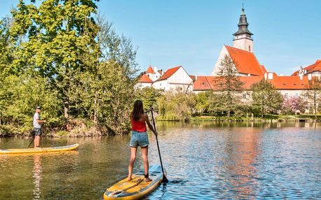 Zážitková plavba Telčí na paddleboardech vč. pikniku