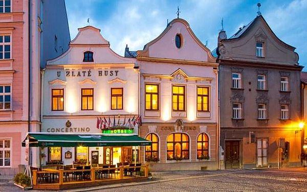 Jindřichův Hradec: Hotel Concertino - Zlatá Husa **** s polopenzí a slevou na finskou saunu a masáže