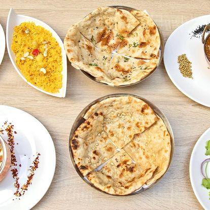 Otevřené vouchery na celé menu indické restaurace