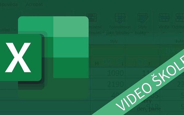 Měsíční video kurz Excelu pro pokročilé2