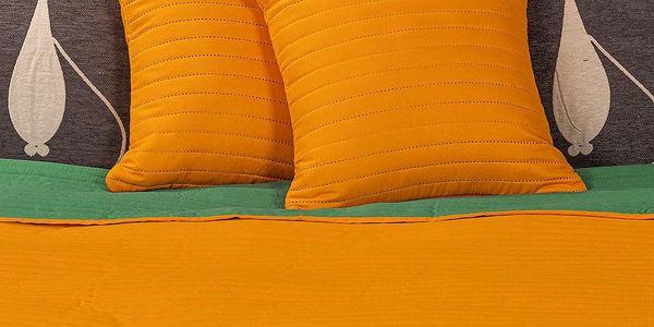 4Home Přehoz na postel Doubleface oranžová/zelená4