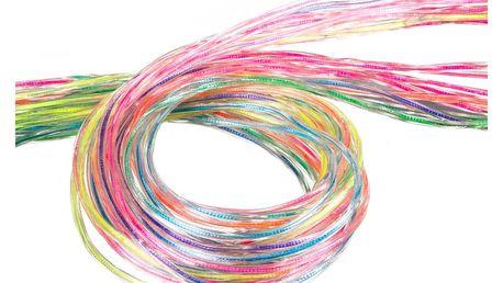 Bužírky Duha zaplétací špagety - 80 cm / 10 ks