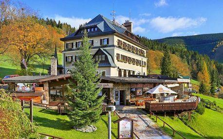 Letní sezóna v Hotelu Praha **** ve Špindlu s wellness a polopenzí