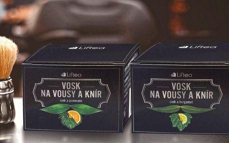 Balení dvou vosků Liftea na vousy a knír