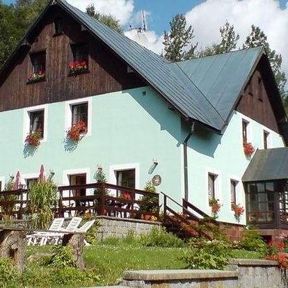 Horská chata Krosnov nacházející se v lokalitě Krkonošského národního parku