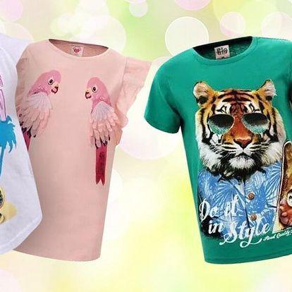 Originální dětská bavlněná trička s potiskem