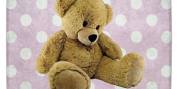 Vopi Dětský koberec Ultra Soft Medvídek růžová2