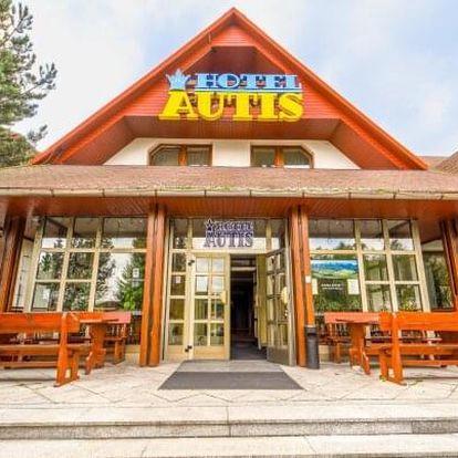 Vysoké Tatry u pozemní lanovky na Hrebienok v Hotelu Autis *** s polopenzí a saunou neomezeně + děti zdarma