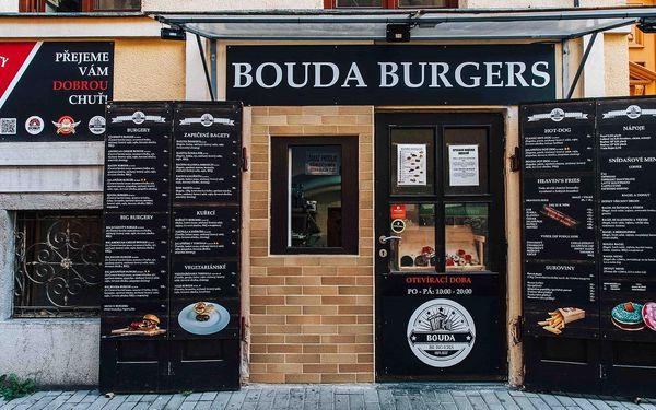 Bouda Burger, hranolky, dip a nápoj pro jednoho3