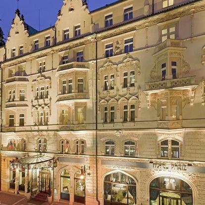 Elegantní secesní hotel Paříž umístěný v samém centru Prahy