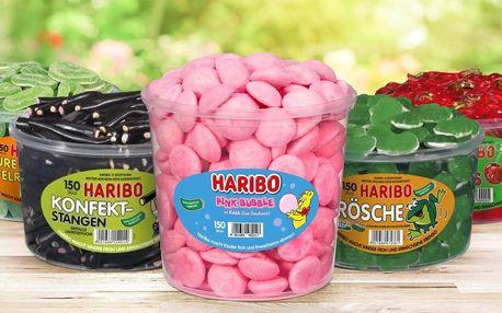 Velké dózy plné bonbonů Haribo, až 1500 g